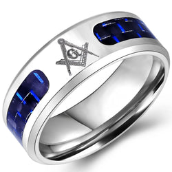 Stainless Steel Master Mason Band - Free Masonic Ring RING - Masonic Jewelry Free Masonic Ring - FreeMasonicRing.com
