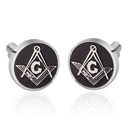 Vintage Men Jewelry Freemason Masonic Square Compasses Cufflinks Set - Free Masonic Ring  - Masonic Jewelry Free Masonic Ring - FreeMasonicRing.com