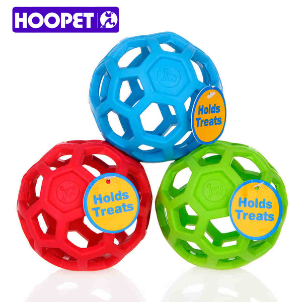 Interactive Rubber Drain Food Dog Ball