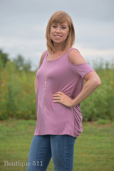 Draped Mauve Top