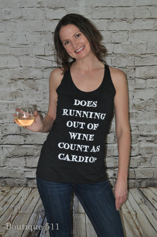 Does Running Out of Wine Count As Cardio Tank