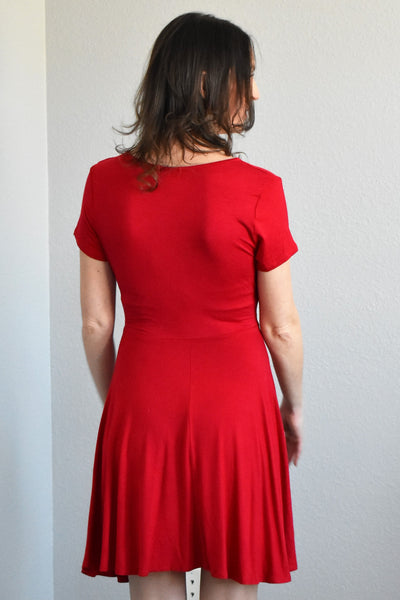 Classic Red Wrap Dress