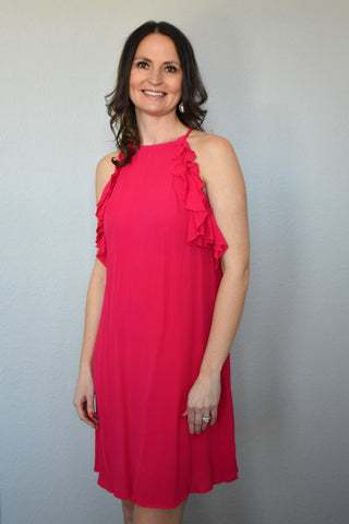 Fuchsia Sleeveless Dress