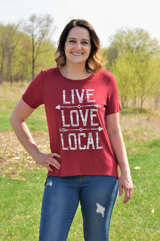 Live, Love, Local Graphic T