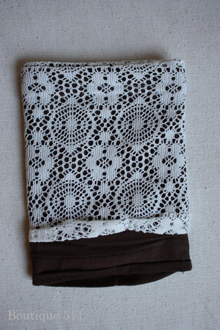 Brown and Lace Boot Cuffs