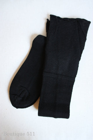 Black Boot Socks