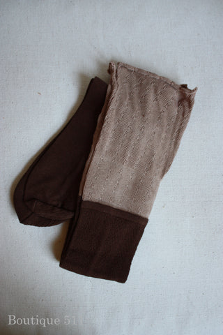 Brown Boot Socks