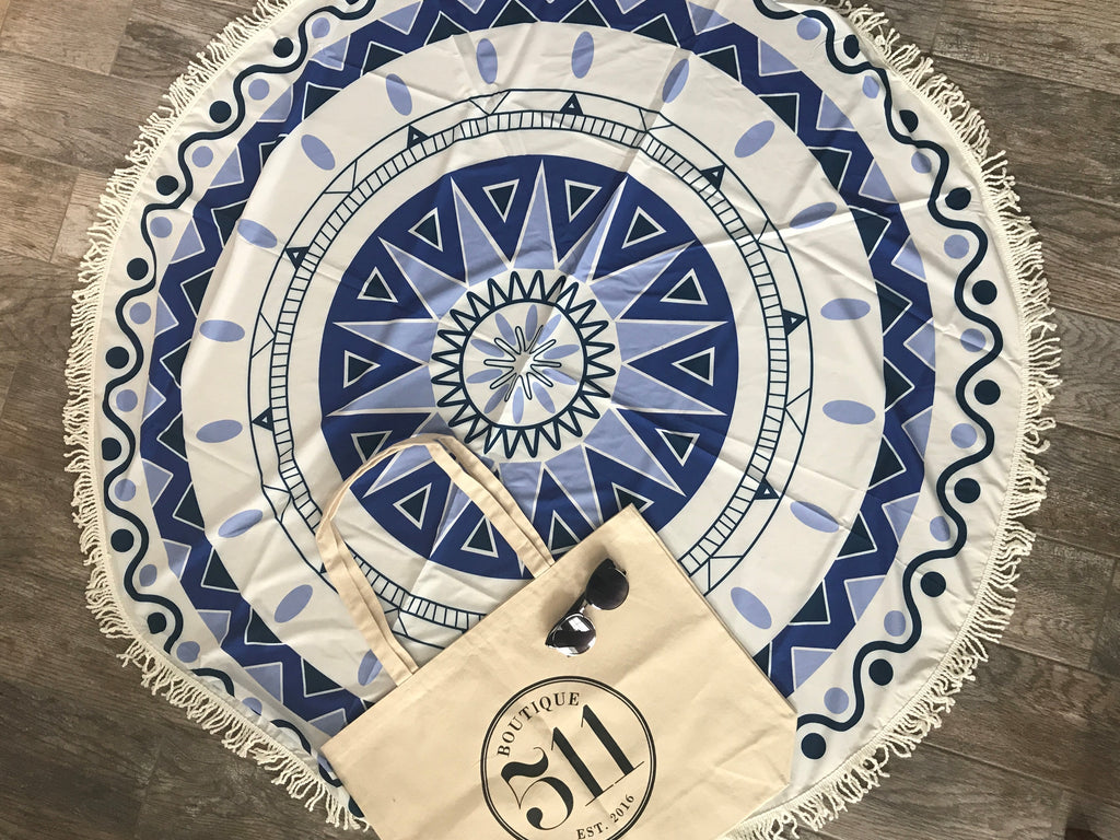 Round Beach Blanket Set