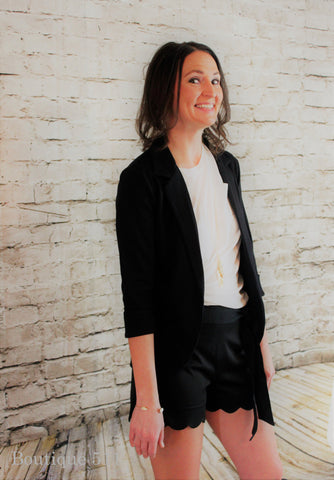 Black Knit Blazer