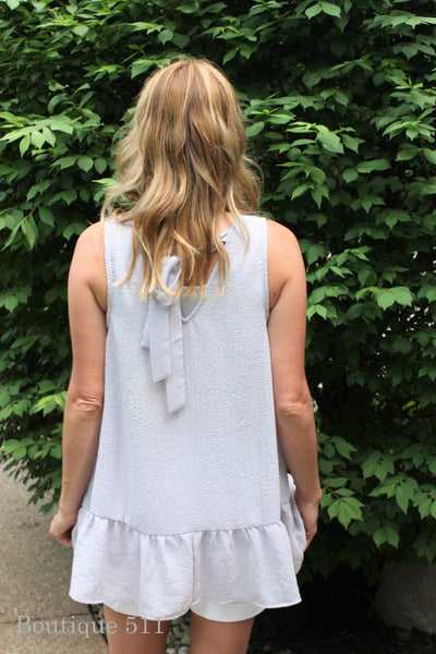 Lilac Embroidered Tank