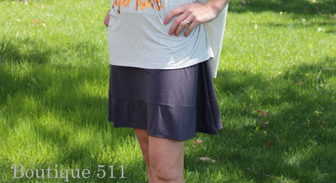 Simple Charcoal Skirt