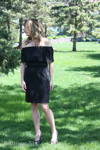 Off Shoulder, Black Dress