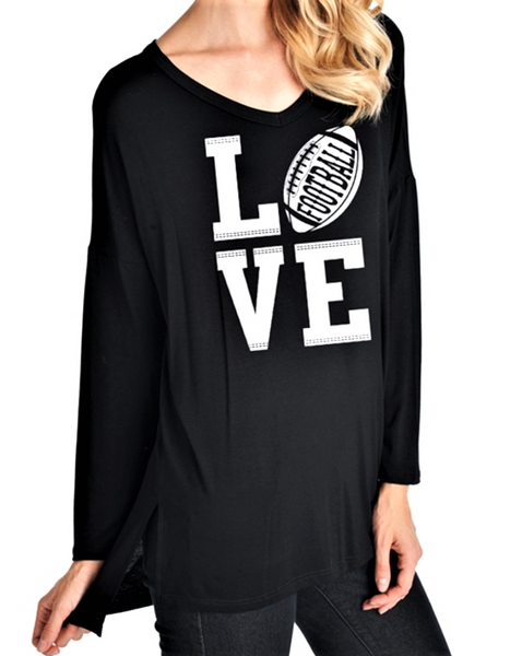 Love Football Graphic Tee