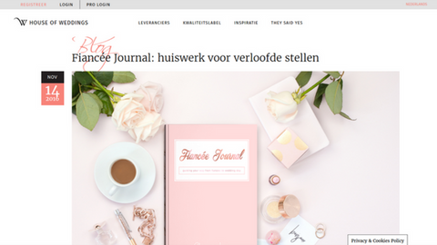Fiancéejournal op houseofweddings.be