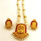 TEMPLE PEARL NECKLACE SET