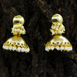 MATT GOLD JHUMKI WITH PEARLS