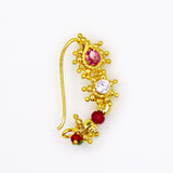 Nath Nathni Nose Rings | buy Antique Pink & White Stone Nath Online | Sonchafa