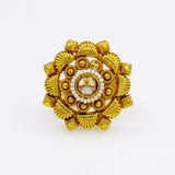 GRACEFUL GOLD PLATED RING