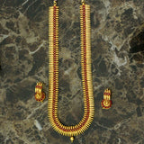 TEMPLE DROP-DOWN LONG NECKLACE WITH JHUMKI TOPS