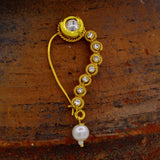TRADITIONAL NATH WITH WHITE PEARL & KUNDAN