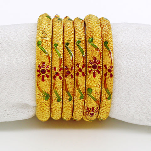 DESIGNER PESHWAI BANGLES SET - SIX PC