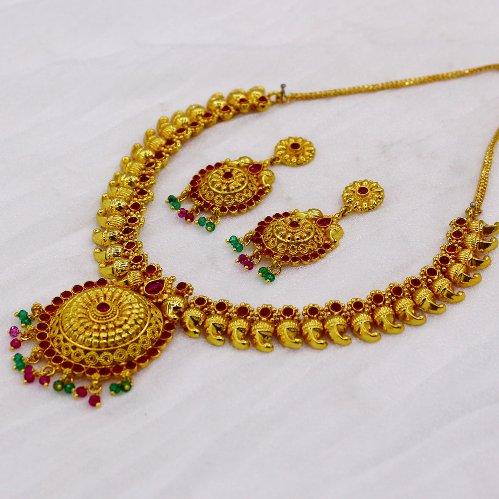 for necklace gold set sets sukkhi buy women shopping online jalebi designer plated