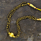 GOLDEN & BLACK BEADS MANGALSUTRA