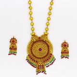 PESHWAI GOLDEN BEADS NECKLACE WITH DESIGNER TOPS