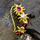 Nath | Nathni | Nose Rings | buy Antique Pink & White Stone Nath Online | Sonchafa