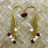 ANTIQUE HANGING PEARL DROPS EARRINGS