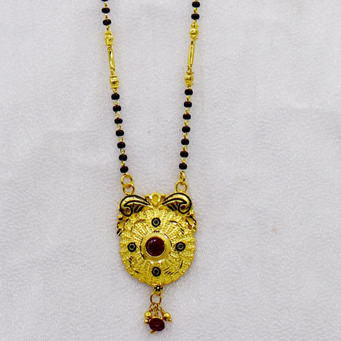DESIGNER MANGALSUTRA WITH RUBY STONE