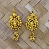 TRADITIONAL EARRING MATT GOLD PLATED
