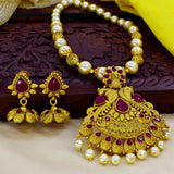 RUBY WITH PEARL NECKLACE SET