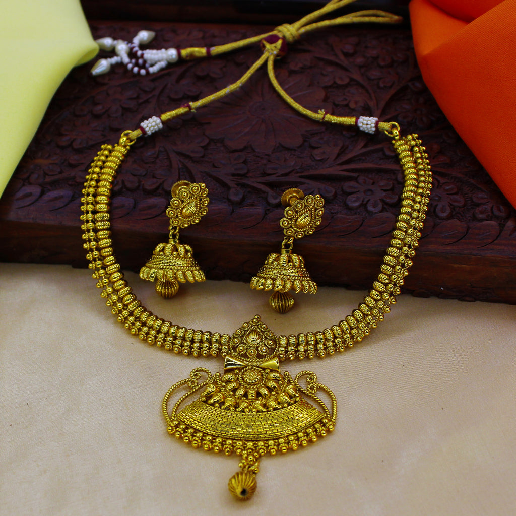 trendy latest jewellery guarantee plated gold jewelry handmade party like wear south necklace antique online design indian imitation unique