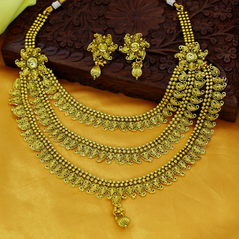THREE LAYER DESIGNER NECKALCE