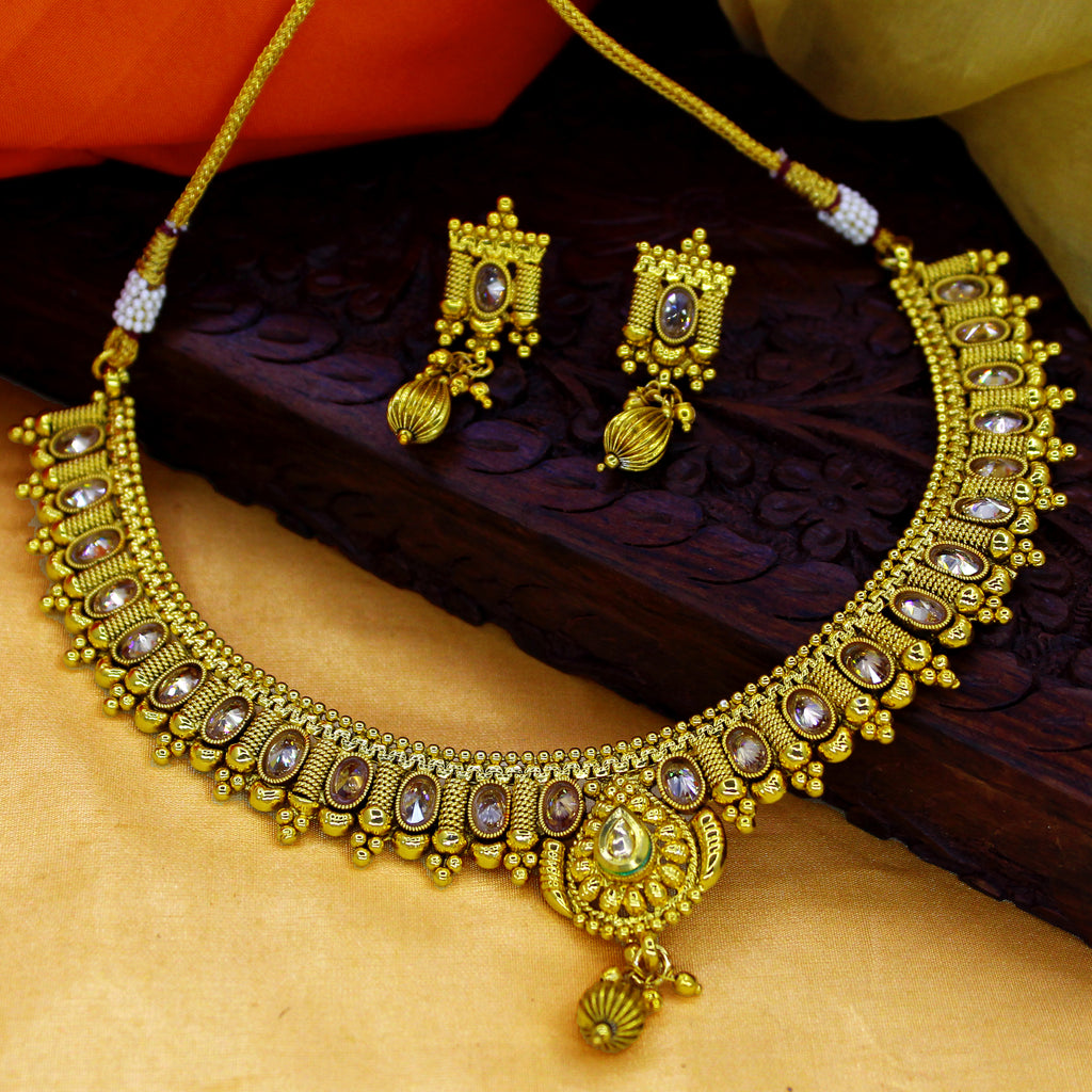necklace coimbatore gj with n designs art of enamel gold jewellery antique