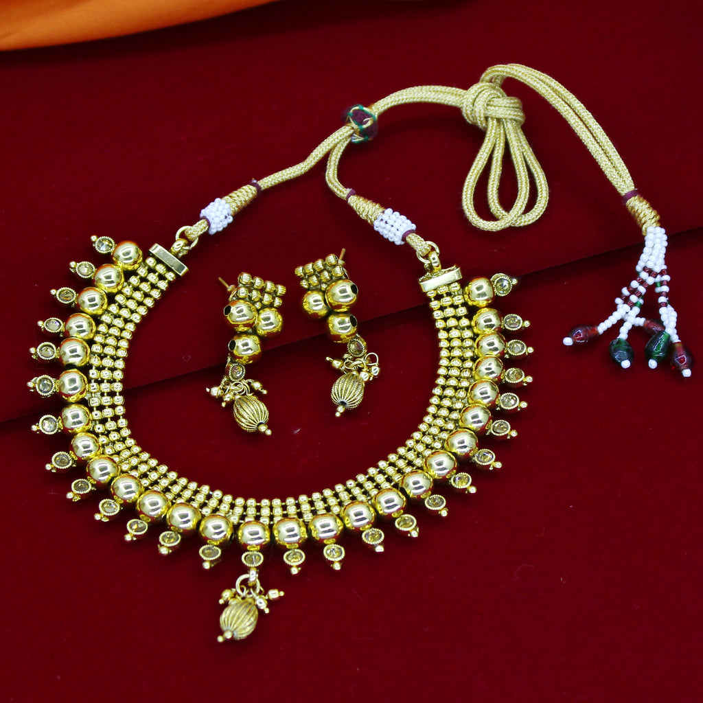 american plated set necklace antique gold nareiki diamond untitled product