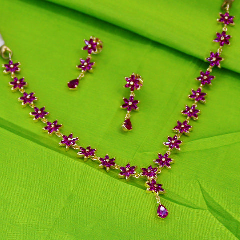 PINK STONE DESIGNER NECKLACE