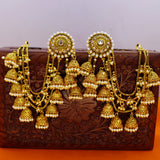 DEVSENA JHUMKA WITH KANCHAIN EARRINGS