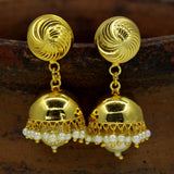 GOLDEN JHUMKA WITH PEARL