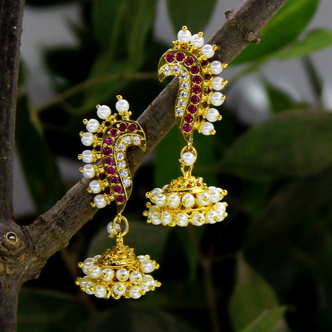 PUNERI DESIGNER EARRINGS WITH JHUMKI