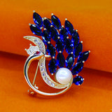 PEACOCK DESIGNER SAREE PIN