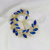 BLUE LEAF SAREE PIN