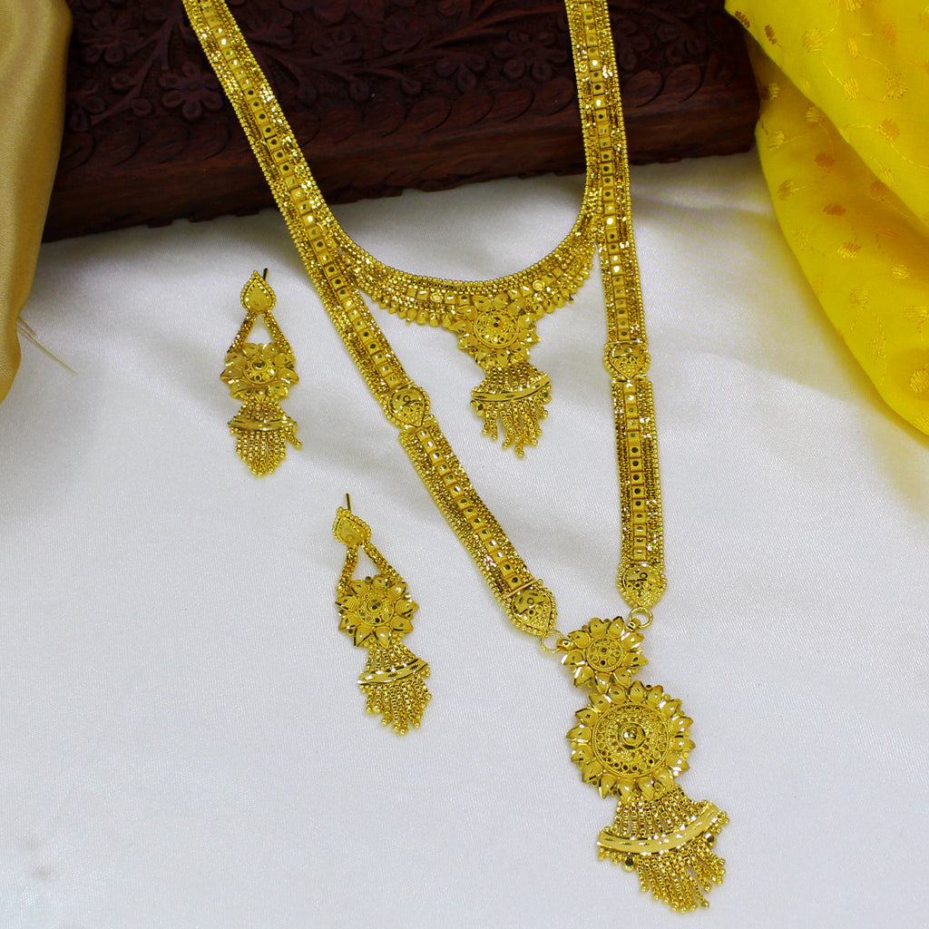 less jewellery one for jfl plated set gold necklace beads designer product gram spiral
