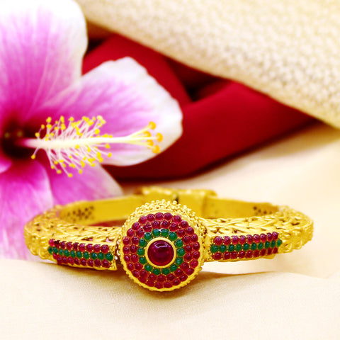 ANTIQUE STYLE MATT GOLD PLATED DESIGNER KADA