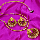 TEMPLE GANESHA PENDENT NECKLACE SET