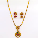 PEACOCK DESIGNER PENDENT CHAIN NECKLACE SET