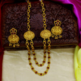 LAXMI SIDE BROACH LAYER NECKALCE SET