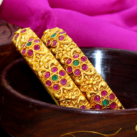 FLORAL FLOWER RED GREEN BANGLES