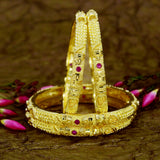DESIGNER BANGLES WITH RUBY STONE